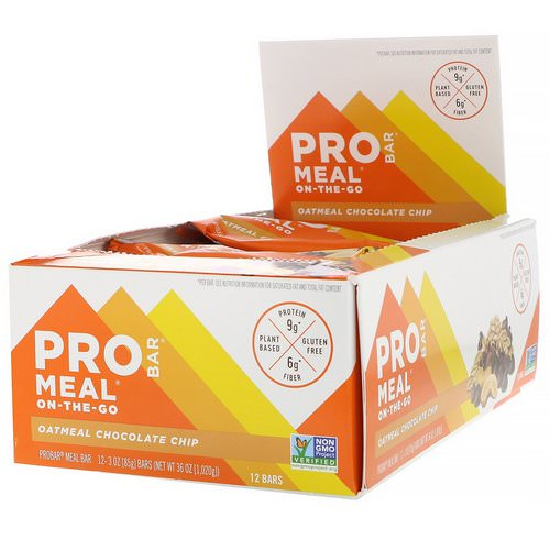 ProBar, Protein Bar, Meal, Oatmeal Chocolate Chip, 12 Bars, 3 oz (85 g) Each Review