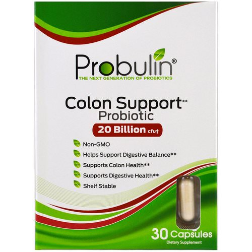 Probulin, Colon Support, Probiotic, 30 Capsules Review