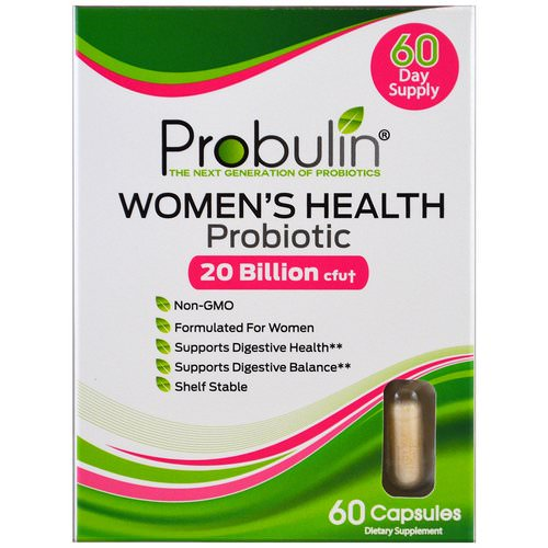 Probulin, Women's Health, Probiotic, 60 Capsules Review