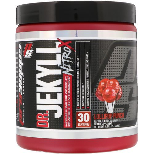 ProSupps, Dr. Jekyll, Nitro X, Intense Pump Pre Workout, Lollipop Punch, 10.5 oz (297 g) Review
