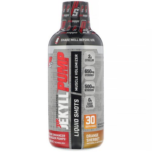 ProSupps, Dr. Jekyll, Pump, Stimulant-Free, Orange Sherbet, 15.2 oz (450 ml) Review