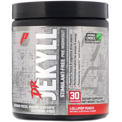 ProSupps, Dr Jekyll, Stimulant-Free Pre-Workout, Lollipop Punch, 7.9 oz (225 g) Review