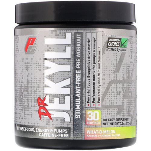 ProSupps, Dr Jekyll, Stimulant-Free Pre-Workout, What-O-Melon, 7.9 oz (225 g) Review