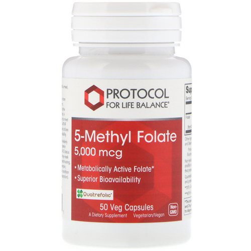 Protocol for Life Balance, 5-Methyl Folate, 5,000 mcg, 50 Veg Capsules Review