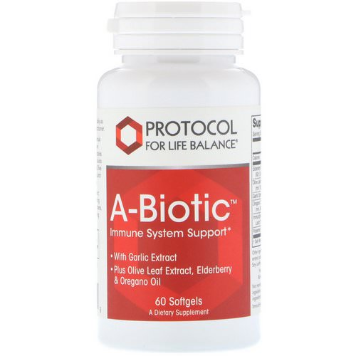Protocol for Life Balance, A-Biotic, Immune System Support, 60 Softgels Review