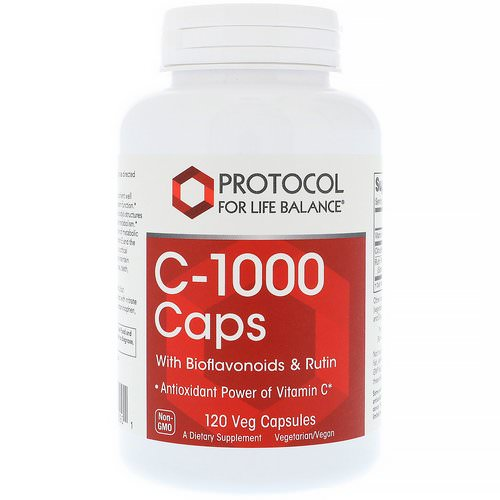 Protocol for Life Balance, C-1000 Caps with Bioflavonoids & Rutin, 120 Veg Capsules Review