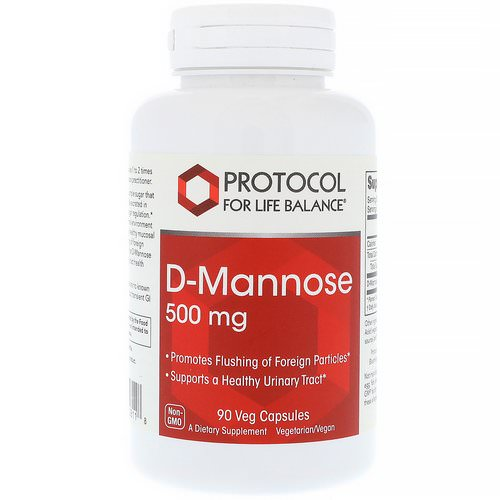 Protocol for Life Balance, D-Mannose, 500 mg, 90 Veg Capsules Review