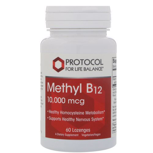Protocol for Life Balance, Methyl B-12, 10,000 mcg, 60 Lozenges Review