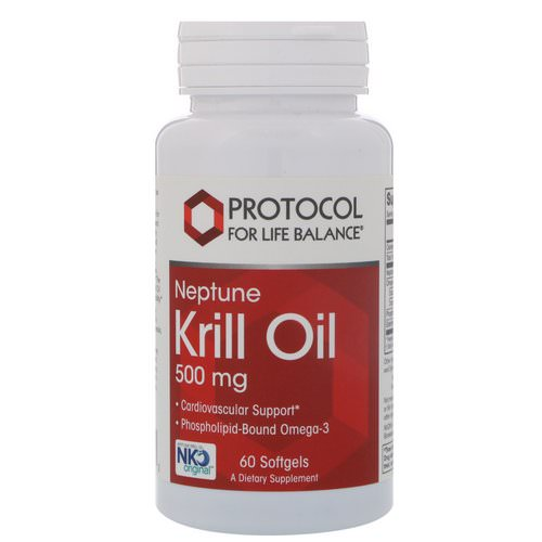 Protocol for Life Balance, Neptune Krill Oil, 500 mg, 60 Softgels Review