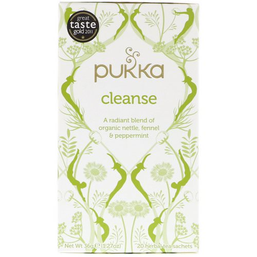 Pukka Herbs, Cleanse Herbal Tea, Caffeine Free, 20 Sachets, 1.27 oz (36 g) Review