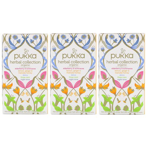 Pukka Herbs, Organic Herbal Tea Collection, 3 Pack, 20 Herbal Tea Sachets Each Review