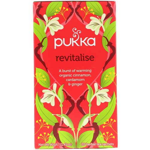 Pukka Herbs, Revitalise, Organic Cinnamon, Cardamom, & Ginger Tea, 20 Tea Sachets, 1.41 oz (40 g) Review