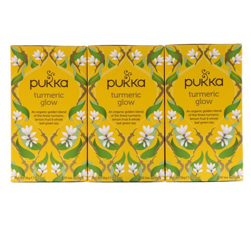 Pukka Herbs, Turmeric Glow Tea, 3 Pack, 20 Herbal Tea Sachets Each Review