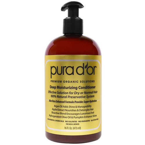 Pura D'or, Deep Moisturizing Conditioner, 16 fl oz (473 ml) Review
