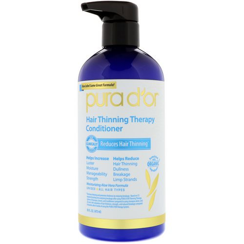 Pura D'or, Hair Thinning Therapy Conditioner, 16 fl oz (473 ml) Review