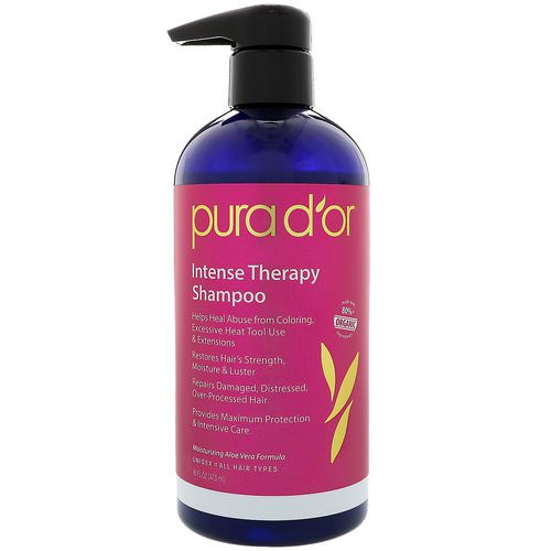 Pura D'or, Intense Therapy Shampoo, 16 fl oz (473 ml) Review