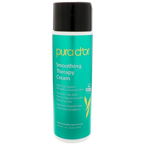 Pura D'or, Smoothing Therapy Cream, 8 fl oz (237 ml) Review
