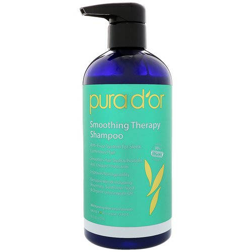 Pura D'or, Smoothing Therapy Shampoo, 16 fl oz (473 ml) Review