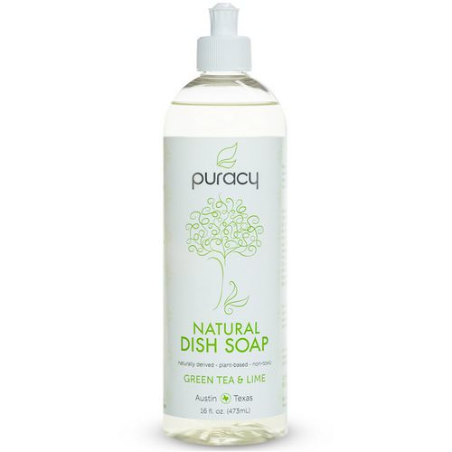 Puracy, Natural Dish Soap, Green Tea & Lime, 16 fl oz (473 ml) Review
