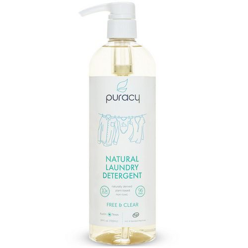 Puracy, Natural Laundry Detergent, Free & Clear, 24 fl oz (710 ml) Review