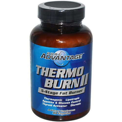 Pure Advantage, Thermo Burn II, 5-Stage Fat Burner, 90 Capsules Review