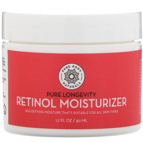 Pure Body Naturals, Retinol Moisturizer, Age & Wrinkle Defying Cream, 1.7 fl oz (50 ml) Review