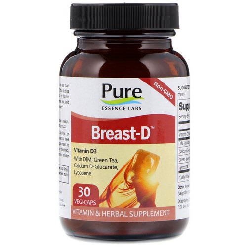 Pure Essence, Breast-D, 30 Vegi-Caps Review