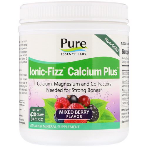 Pure Essence, Ionic-Fizz Calcium Plus, Mixed Berry, 14.82 oz (420 g) Review
