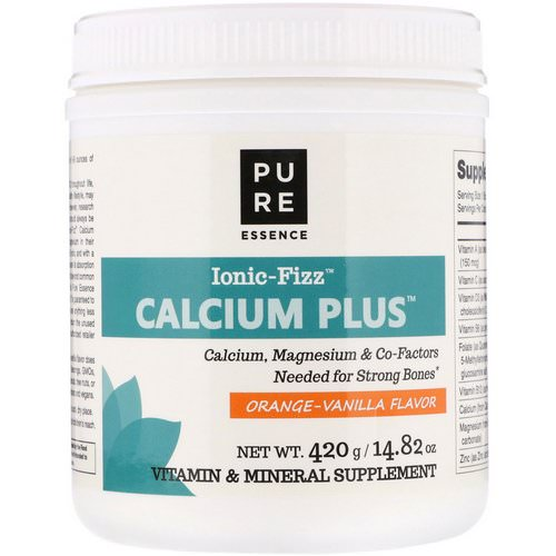 Pure Essence, Ionic-Fizz Calcium Plus, Orange Vanilla Flavor, 14.82 oz (420 g) Review