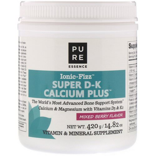 Pure Essence, Ionic-Fizz, Super D-K Calcium Plus, Mixed Berry, 14.82 oz (420 g) Review