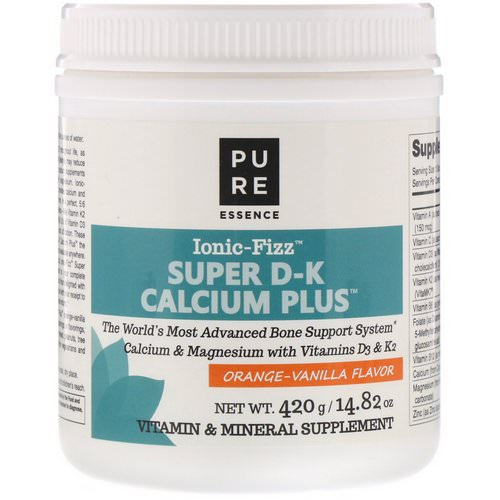 Pure Essence, Ionic-Fizz, Super D-K Calcium Plus, Orange Vanilla, 14.82 oz (420 g) Review