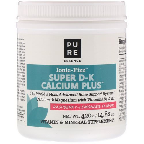 Pure Essence, Ionic-Fizz, Super D-K Calcium Plus, Raspberry Lemonade, 14.82 oz (420 g) Review