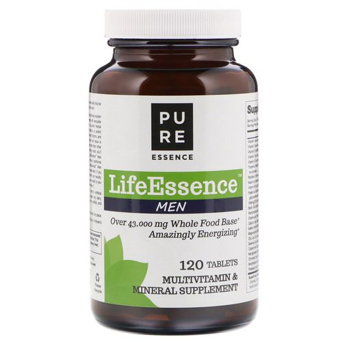 Pure Essence, LifeEssence Men, 120 Tablets Review