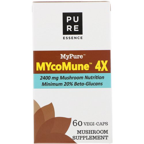 Pure Essence, MyPure, MYcoMune 4X, 60 Vegi-Caps Review