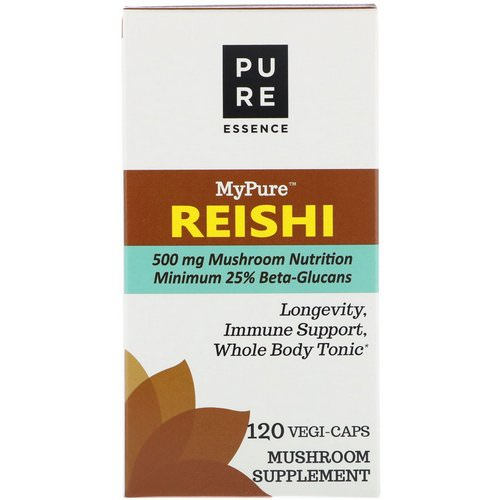 Pure Essence, MyPure, Reishi, 120 Vegi-Caps Review