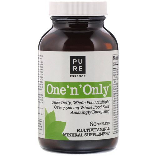 Pure Essence, One 'n' Only, Multivitamin & Mineral, 60 Tablets Review