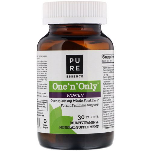 Pure Essence, One 'n' Only Women, Multivitamin & Mineral, 30 Tablets Review