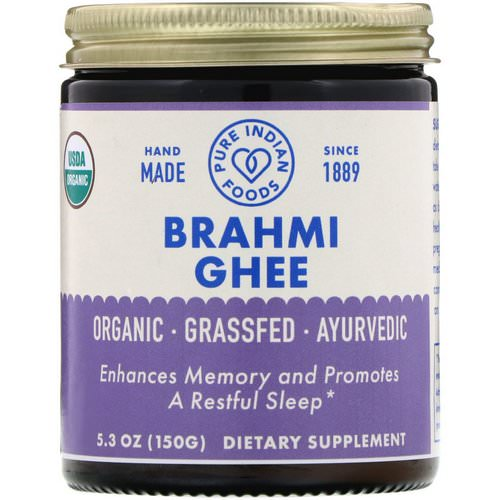 Pure Indian Foods, Organic Brahmi Ghee, 5.3 oz (150 g) Review