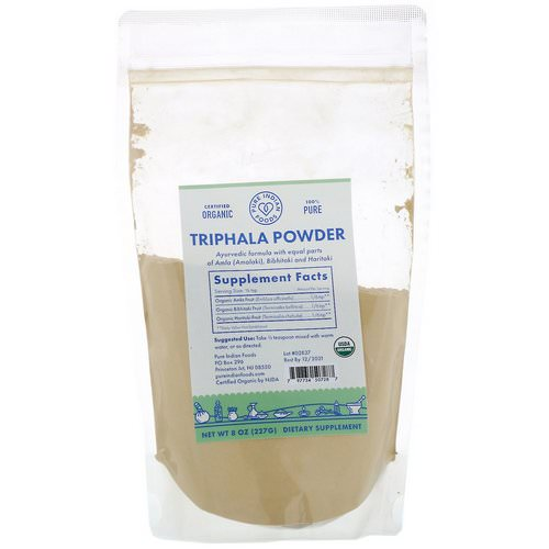 Pure Indian Foods, Organic Triphala Powder, 8 oz (227 g) Review