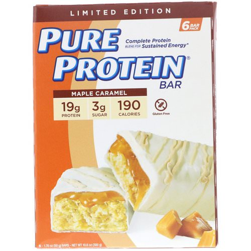 Pure Protein, Maple Caramel Bar, 6 Bars, 1.76 oz (50 g) Each Review