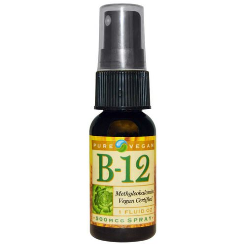 Pure Vegan, B-12, Spray, 500 mcg, 1 fl oz Review