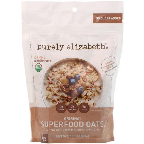 Purely Elizabeth, Organic Superfood Oats, Original, 10 oz (283 g) Review