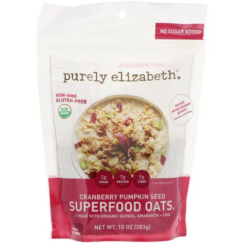 Purely Elizabeth, Superfood Oats, Cranberry Pumpkin Seed, 10 oz (283 g) Review