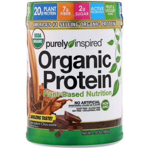 Purely Inspired, Organic Protein, Plant-Based Nutrition, Decadent Chocolate, 1.5 lbs (680 g) Review