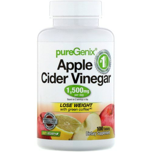 Purely Inspired, PureGenix, Apple Cider Vinegar, 100 Tablets Review