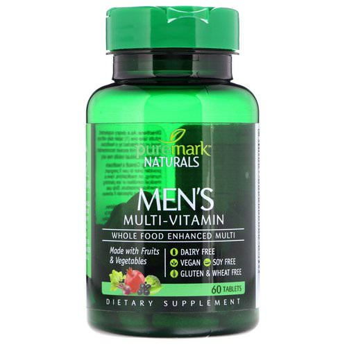 PureMark Naturals, Men's Multi-Vitamin, 60 Tablets Review