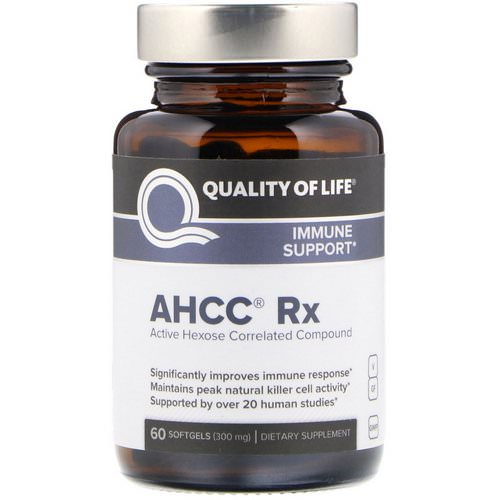 Quality of Life Labs, AHCC RX, 300 mg, 60 Softgels Review