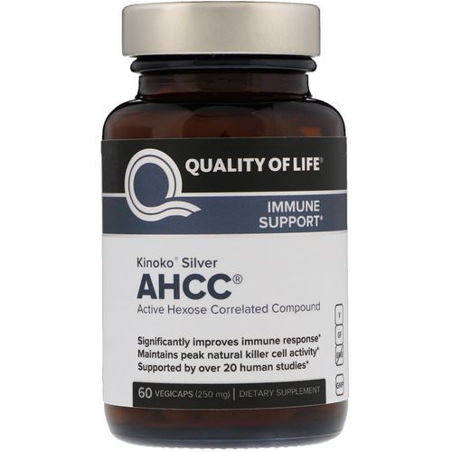 Quality of Life Labs, Kinoko Silver AHCC, 250 mg, 60 Vegicaps Review