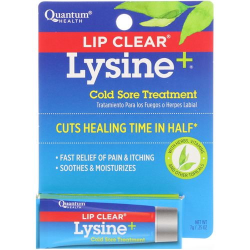 Quantum Health, Lip Clear Lysine+, Cold Sore Treatment, .25 oz (7 g) Review