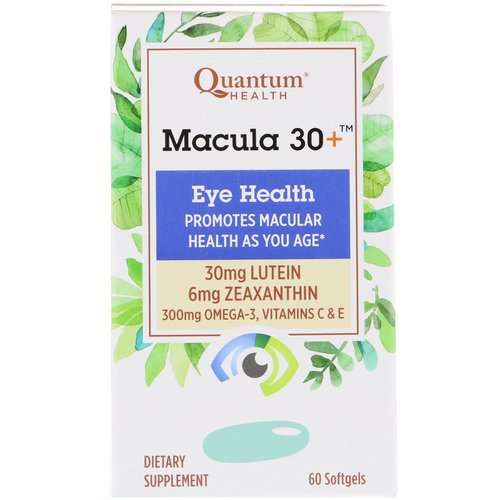 Quantum Health, Macula 30+, Eye Health, 60 Softgels Review